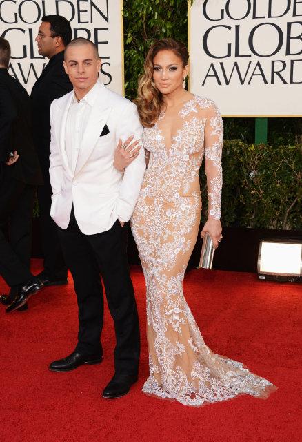 Jennifer Lopez með Casper Smart árið 2013.