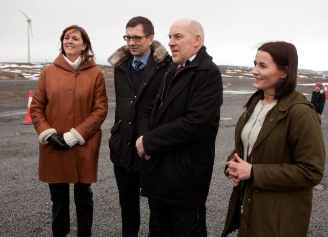Bryndís Hlöðversdóttir stjórnarformaður Landsvirkjunar, Hörður Arnarson, forstjóri Landsvirkjunar, Steingrímur J. ...