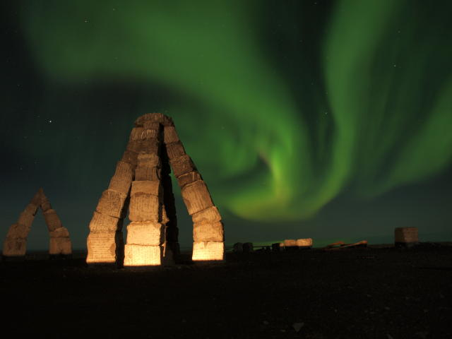 The Arctic Henge is located by the town Kópasker.