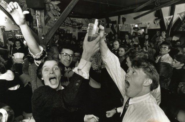 Beer celebrations back in 1989.