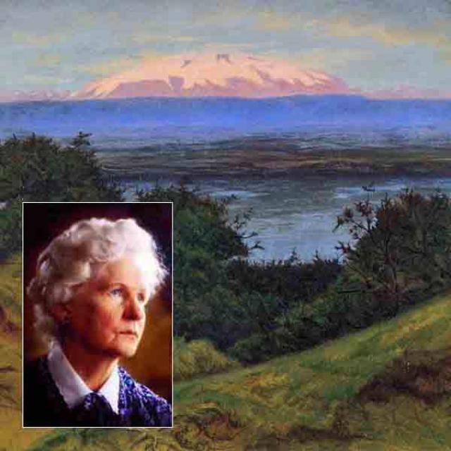 Myndin af Hlíf er síðan hún var 95 ára. Í ...