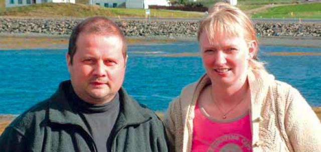 Jón Jónsson og Ester Sigfúsdóttir kona hans.