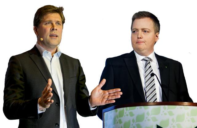 Bjarni Benediktsson og Sigmundur Davíð Gunnlaugsson.