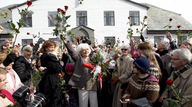 Jóhönnu Sigurðardóttur voru þökkuð störf sín við Stjórnarráðið í dag.
