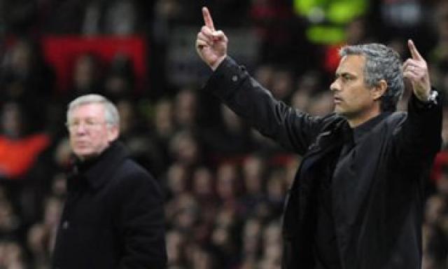 Sir Alex Ferguson og José Mourinho.