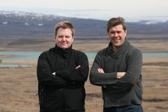 Sigmundur Davíð Gunnlaugsson og Bjarni Benediktsson.