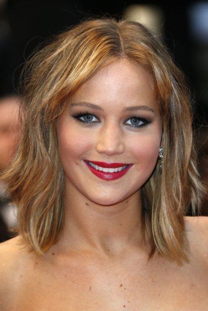 Jennifer Lawrence er með hringlaga andlit.