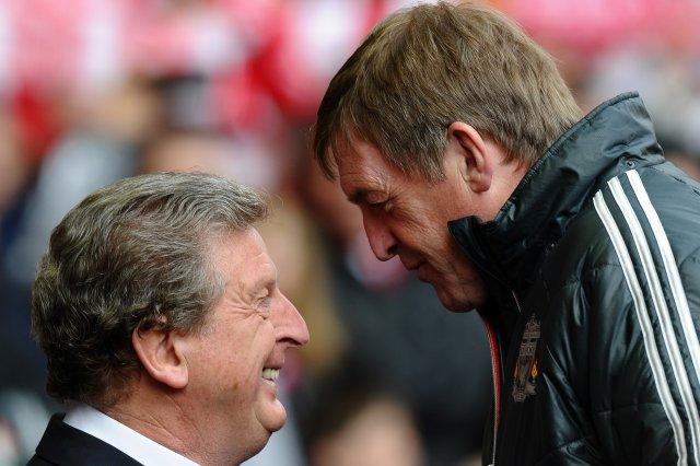 Roy Hodgson og Kenny Dalglish stinga saman nefjum á Anfield ...