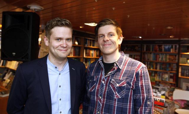 Ari Eldjárn og Kristján Freyr Halldórsson.
