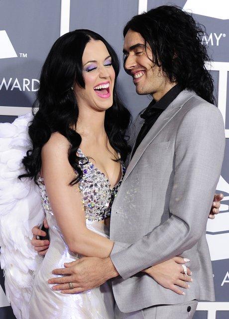 Fyrrverandi hjónin Katy Perry og Russell Brand í stíl á …