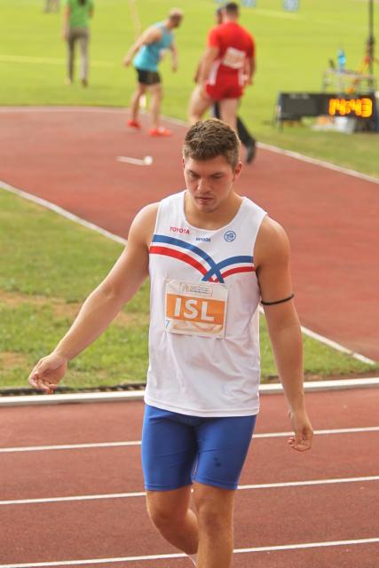 Blake Jakobsson varð í 5. sæti í kringlukastinu.