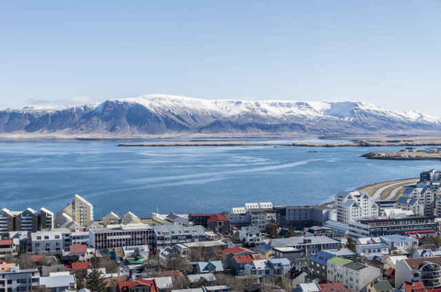 The area around Mount Esja, here seen from Reykjavik, is ...