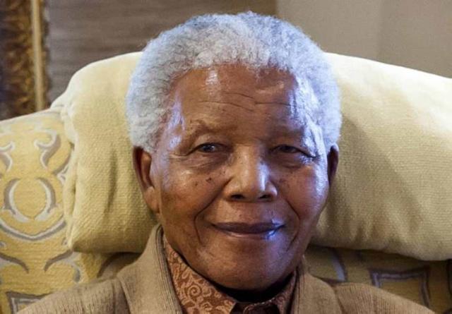 Nelson Mandela, fyrrverandi forseti Suður-Afríku.