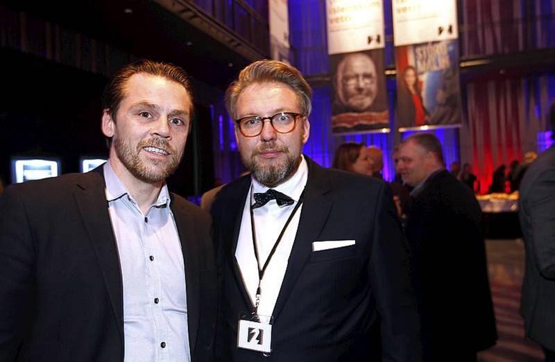 Mikael Torfason og Freyr Einarsson.