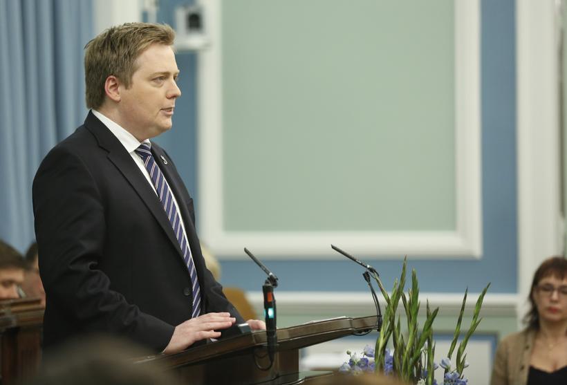 Sigmundur Davíð Gunnlaugsson forsætisráðherra flytur stefnuræðu sína á Alþingi.