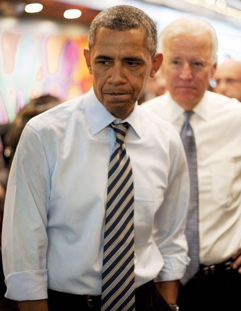 Forseti og varaforseti Bandaríkjanna, Barack Obama og Joe Biden
