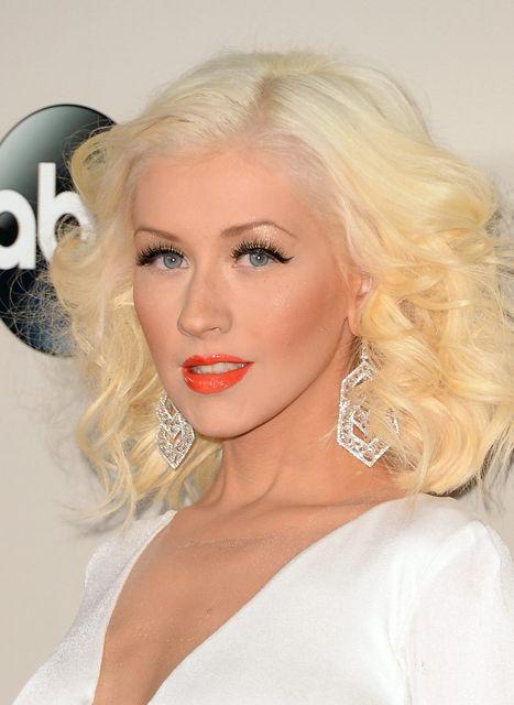 Christina Aguilera á tónlistarverðlaunum árið 2013.