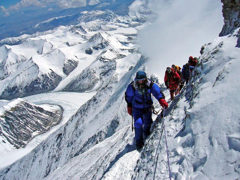 Fjallageitur á Everest-fjalli.