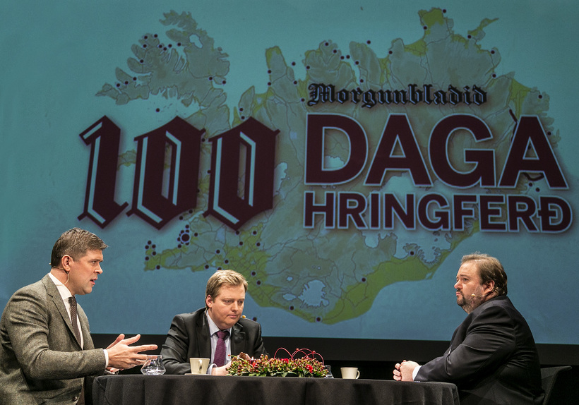 Umræðurnar í gær voru lokahnykkurinn í 100 daga ferð Morgunblaðsins ...