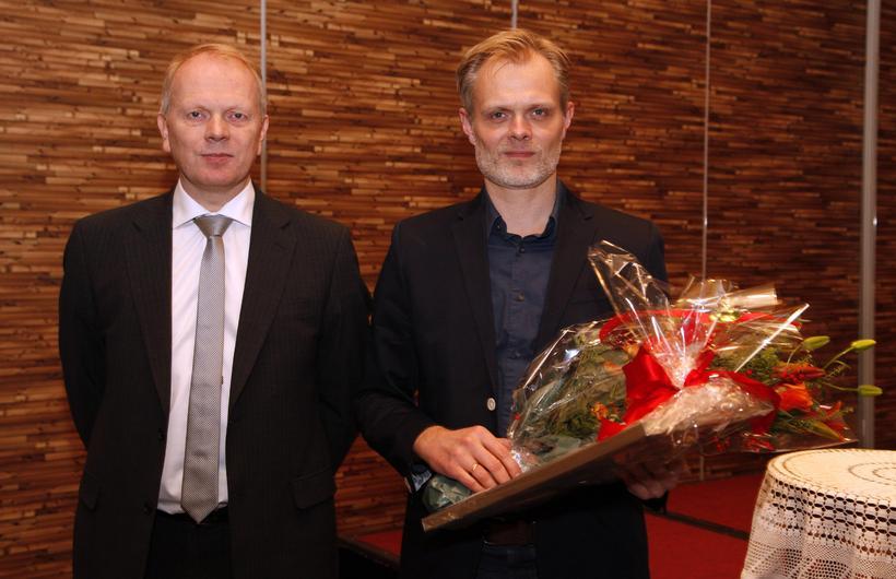 Jón Gunnar Bernburg og Illugi Gunnarsson, mennta- og menningarmálaráðherra, sem ...