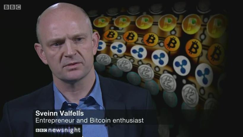 Sveinn Valfells ræðir um bitcoin á BBC.