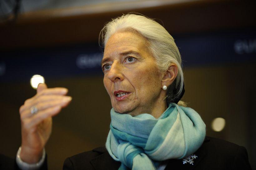 Christine Lagarde, framkvæmdastjóra Alþjóðagjaldeyrissjóðsins.