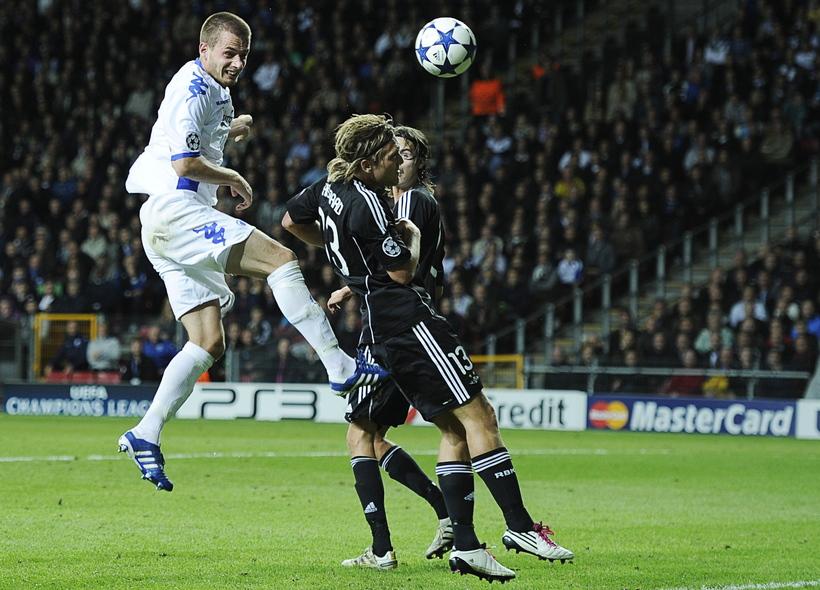 Sölvi Geir Ottesen skallaði FCK inn í Meistaradeildina tímabilið 2010-2011. ...