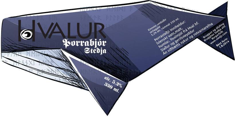 Umbúðir bjórsins vísa sterkt til innhaldsins.