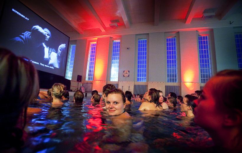The swim-in cinema.