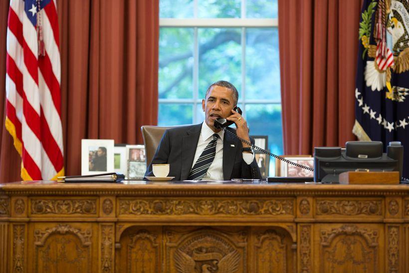 Barack Obama, forseti Bandaríkjanna, segir landsmenn búna að fá nóg …