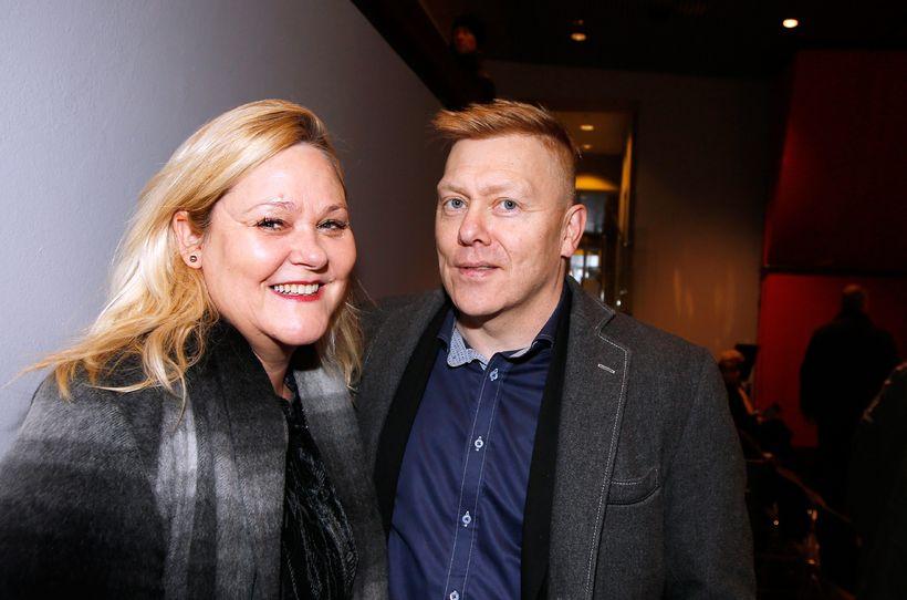 Hjónin Jóga og Jón Gnarr.