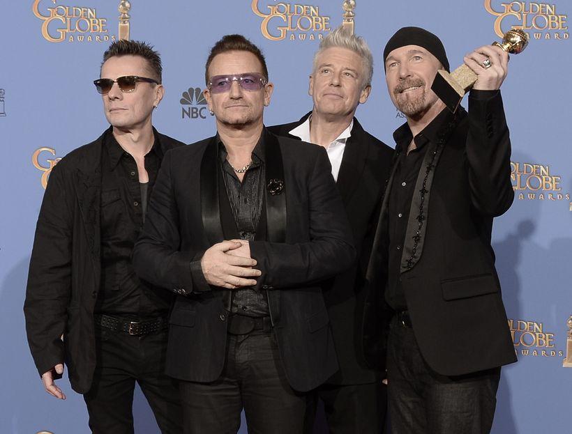 Larry Mullen Jr., Bono, Adam Clayton og The Edge eru …