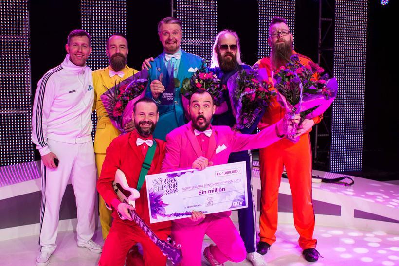 Það er hljómsveitin Pollapönk sem fer til Danmerkur í Eurovision