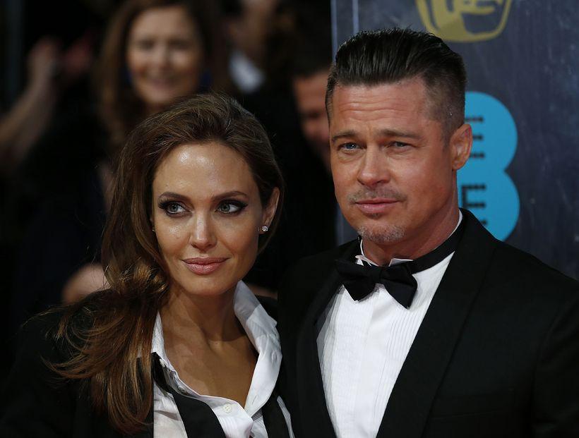 Angelina Jolie og Brad Pitt árið 2014 þegar allt lék ...