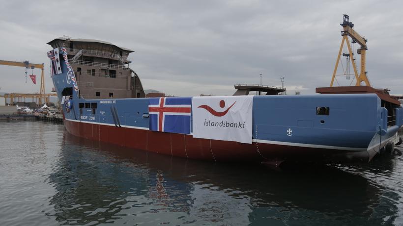 Frá sjósetningu í skipasmíðastöðinni Cemre í Tyrklandi árið 2014.