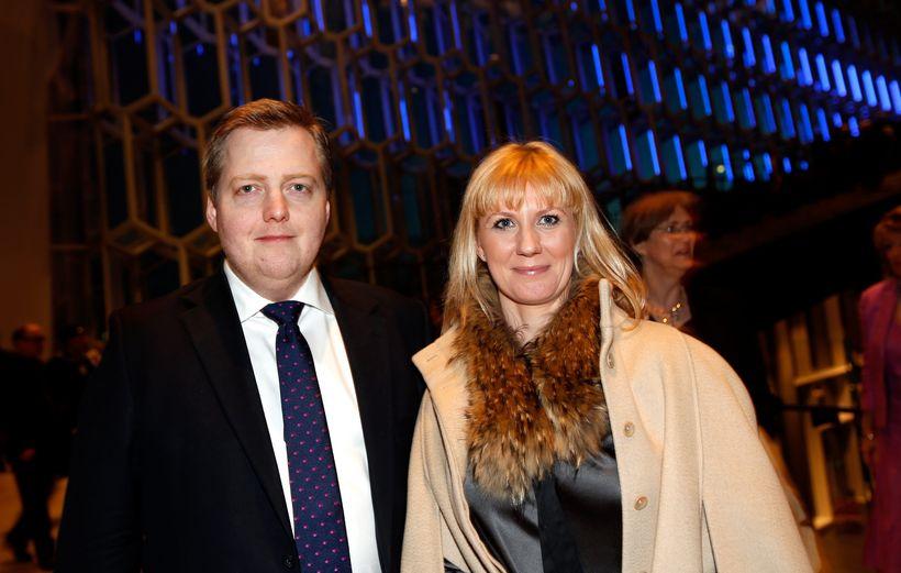 Sigmundur Davíð Gunnlaugsson og Anna Sigurlaug Pálsdóttir.