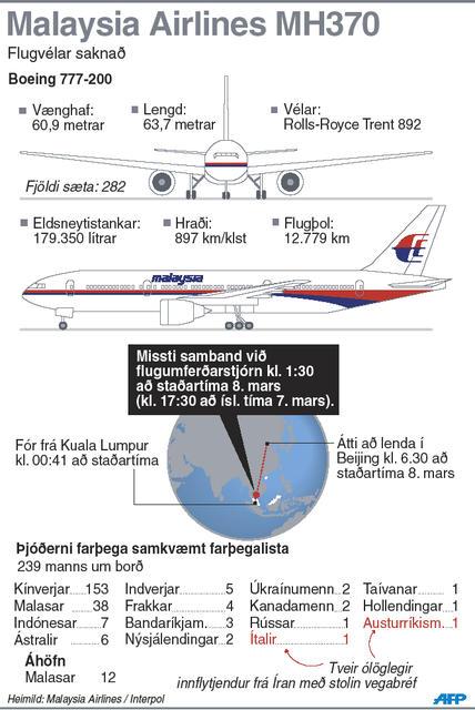 Malaysia Airlines þotan