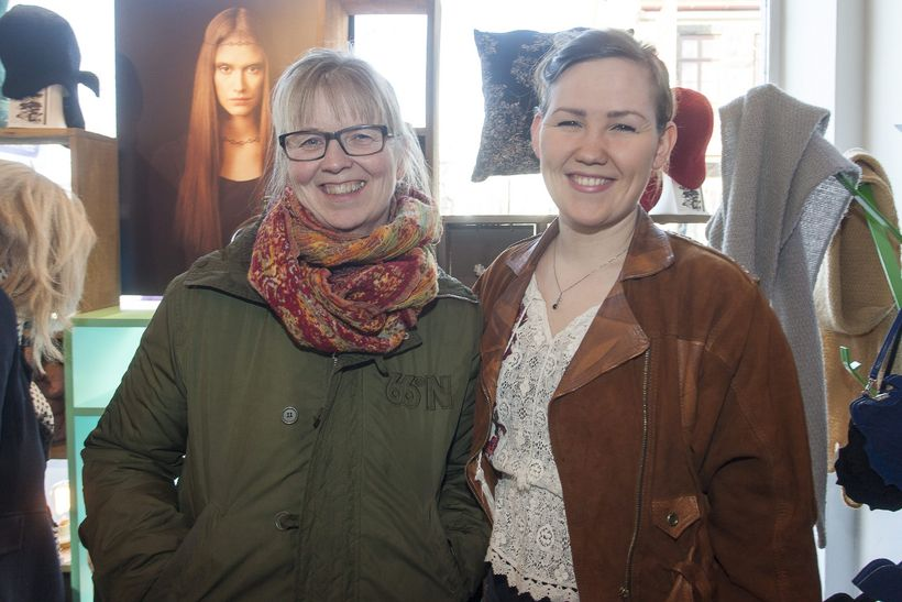 Ásthildur Magnúsdóttir og Björk Eldjárn Kristjánsdóttir.