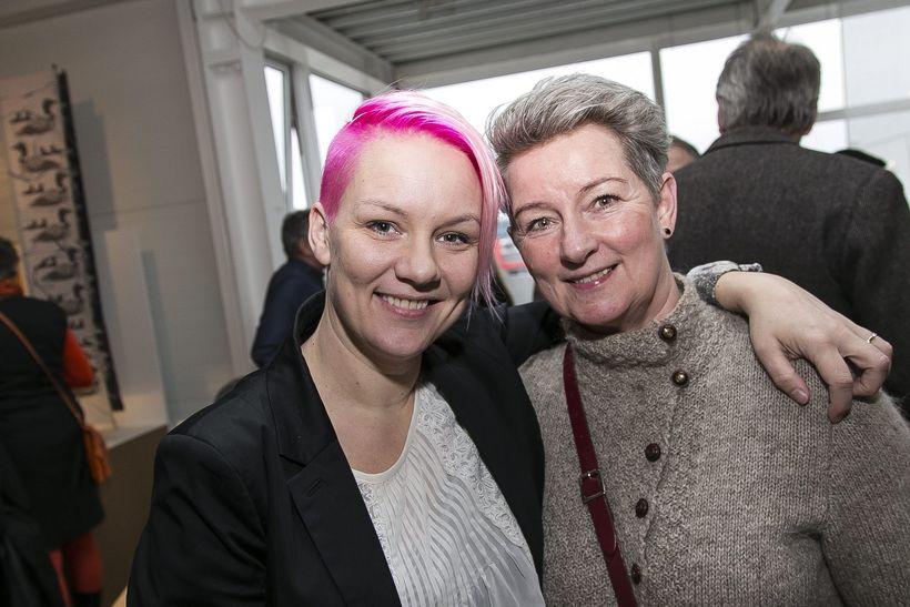 Mæðgurnar Heiða Júlíudóttir og Júlía Svavarsdóttir.