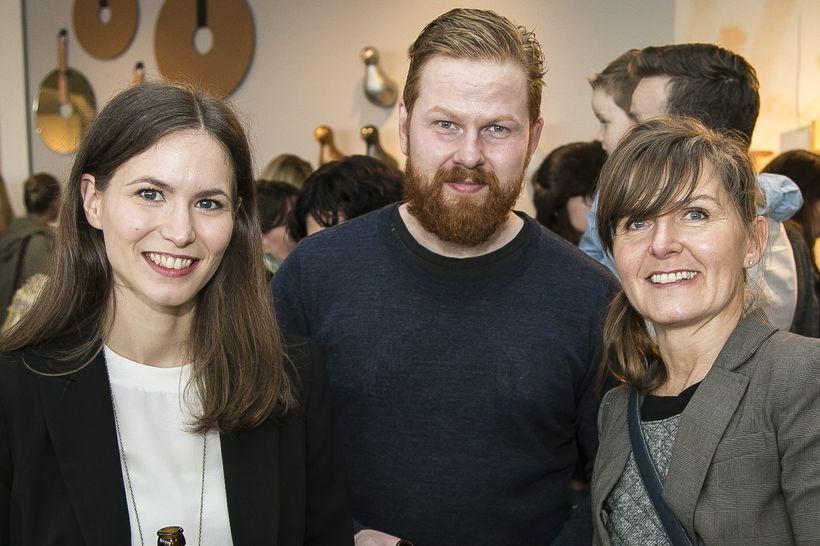 Dagný Björg Stefánsdóttir, Sigurjón Arason og Anna Snæfríður Sigmarsdóttir.
