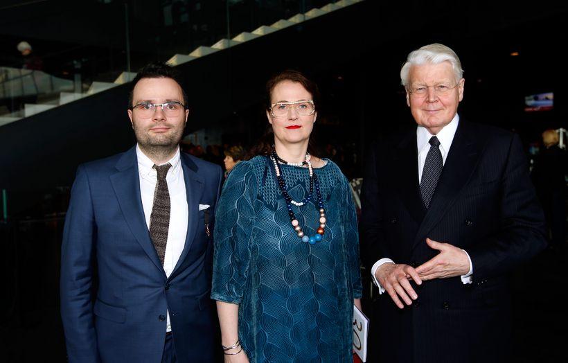 Greipur Gíslason, Halla Helgadóttir og Ólafur Ragnar Grímsson.