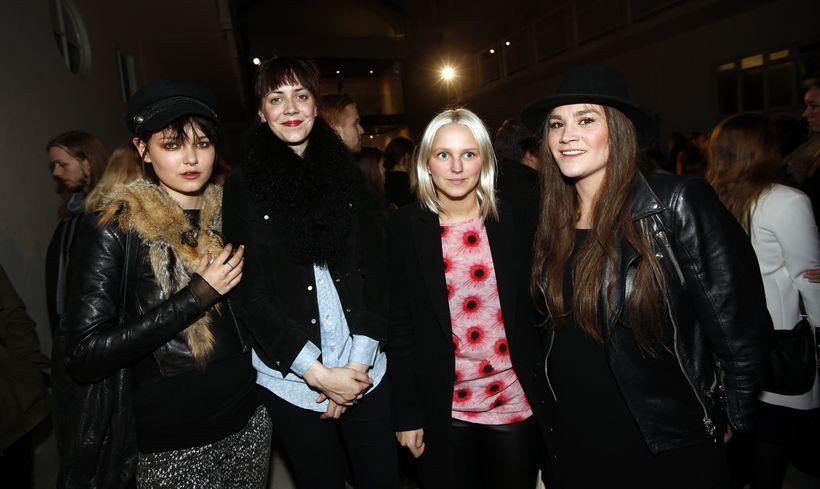 Kolfinna Kristófersdóttir, Tinna Rún Kristófersdóttir, Hildur Ragnarsdóttir og Silvía Clodhier.