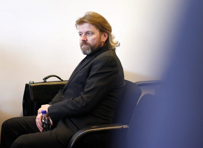 Jón Ásgeir Jóhannesson við aðalmeðferð Aurum-málsins þegar það var tekið …