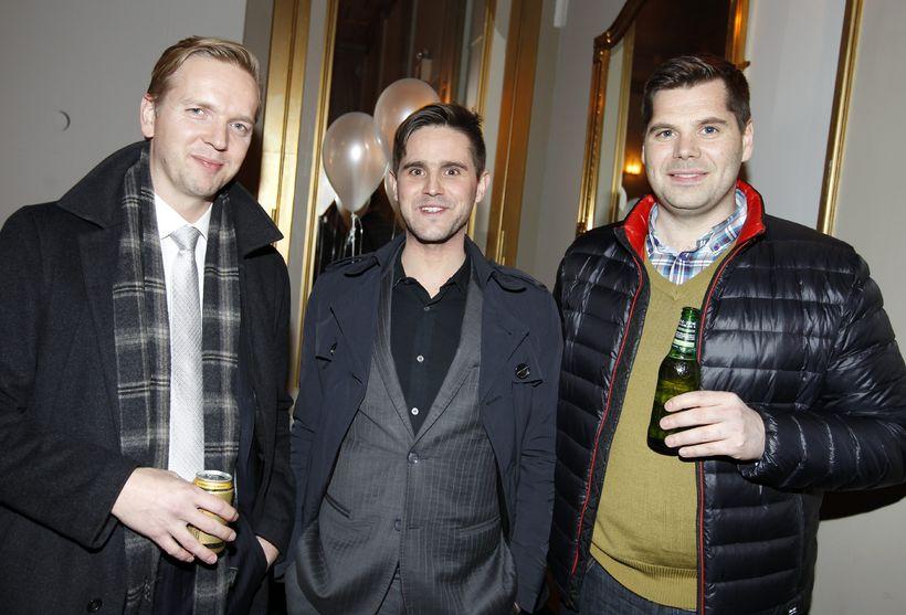 Friðleifur Guðmundsson, Gunnar Egilsson og Bergsteinn Sigurðsson.