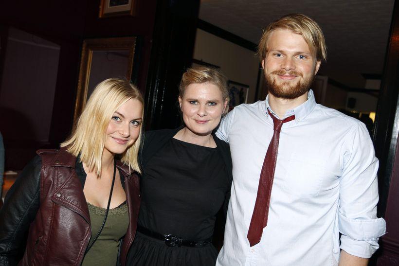 Kristín, Hildur og Guðmundur Sverrisbörn.