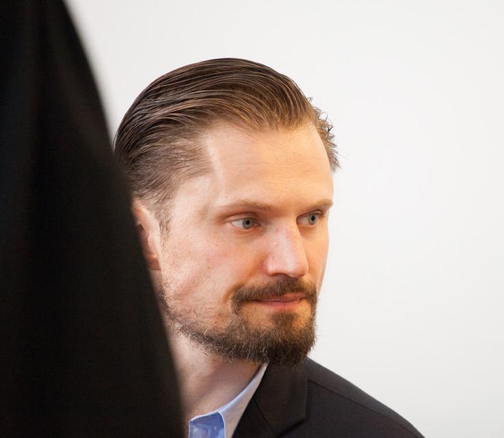 Elmar Svavarsson í Héraðsdómi Reykjavíkur í morgun.