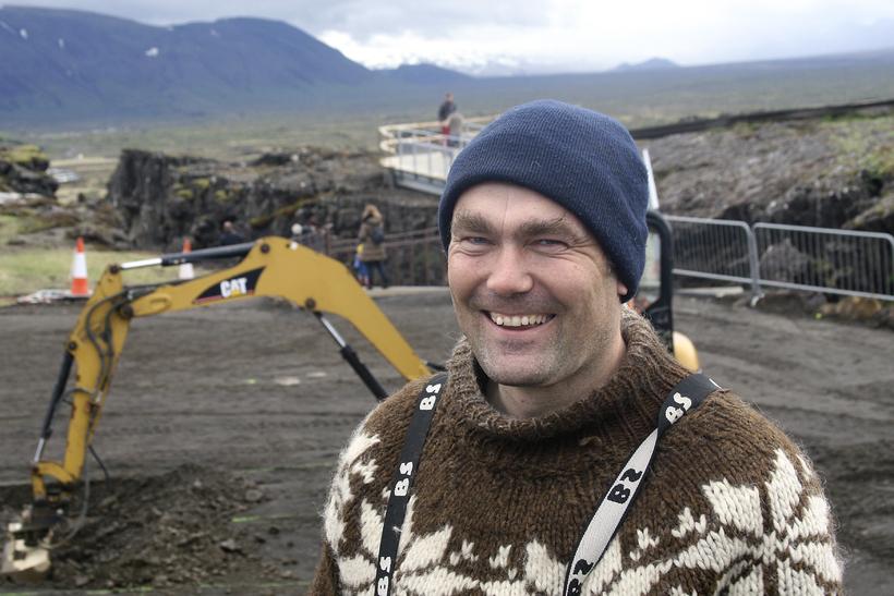 Kolbeinn Sveinbjörnsson íbúi á Heiðarási.