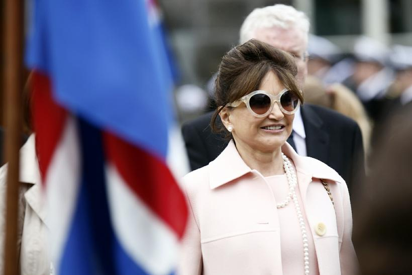Dorrit Moussaieff, First Lady of Iceland.