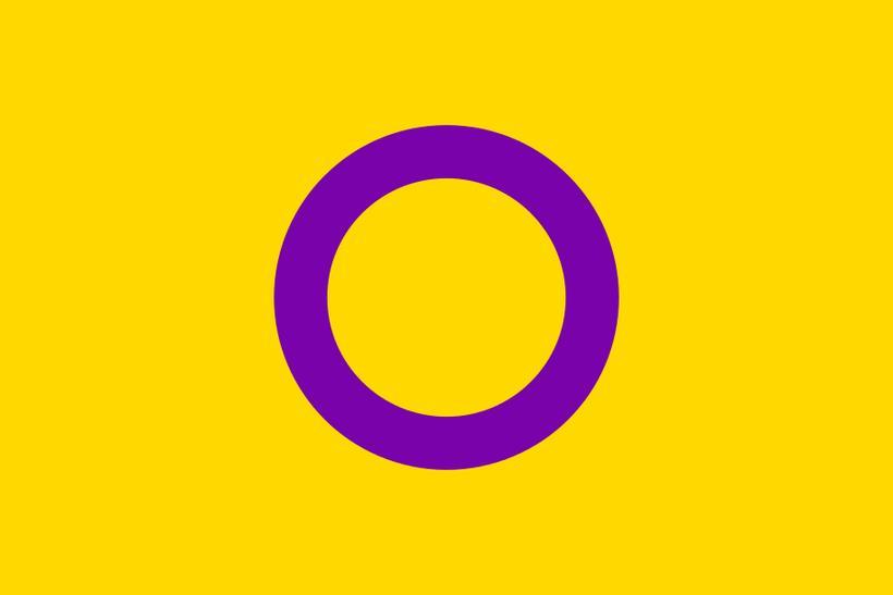 Fáni intersex fólks var búinn til af sambærilegum Sam-intersex-samtökum Ástralíu ...