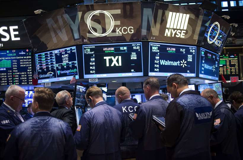 Dow Jones-hlutabréfavísitalan í Bandaríkjunum lækkaði skarpt við opnun markaða í ...